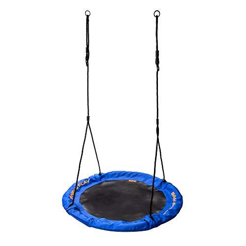 meteor Nestschaukel 100 und 110 cm Garten-Schaukel bis 150 kg Der Rahmen ist mit dickem, weichem Schaumstoff gesichert und Stoff Oxford 600D