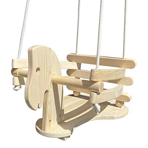 GICO Pferdeschaukel Gitterschaukel Babyschaukel aus Holz - 6557