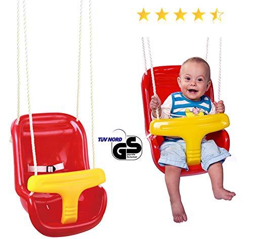 Baby-Schaukel Indoor und Outdoor Babyhochschaukel Kleinkindschaukel ab 12 Monate (TÜV Nord GS gepr)