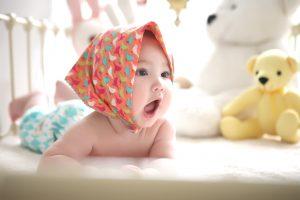 Eine Babywippe für Babys